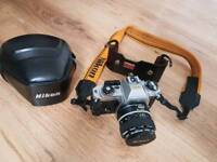 Nikon FG with leather cover