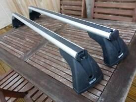 Bmw e90 3 series genuine aluminium bmw roof bars with keys