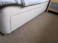 2 single divan mattress base with drawers