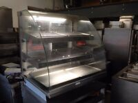 COUNTER TOP HOT DISPLAY CABINET CATERING COMMERCIAL FAST FOOD TAKE AWAY KITCHEN RESTAURANT SHOP