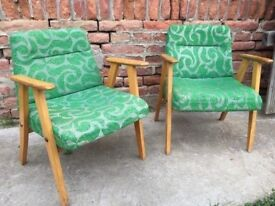 Set of Vintage LISTENING 60s CHAIRs Quirky Furniture Seat Retro Decor Mid-Century