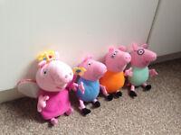 Peppa Pig, George, Mummy Pig, Daddy Pig