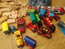 Brio car/train garage, accessories, track and trains