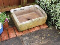 Stone Garden Sink Style Plant Trough