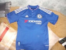 Boys Adidas Chelsea Football Club Shirt (chest 15 inch's) Perfect condition