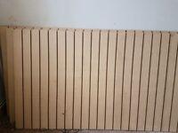 Beech Coloured Slat Boards
