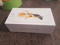 Unlocked iPhone 6s plus Gold 16GB, New condition as hardly used