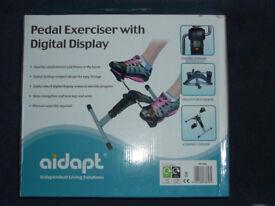 aidapt pedal exerciser with digital display, UNUSED