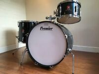 Wokingham Drum Sales - Vintage Premier Club Drum Kit - Early 80's - Birch Shells