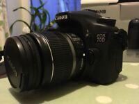 Canon EOS 70D 20.2MP Digital SLR Camera -18-55mm STM lens
