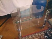 Glass tv stand 60cm wide (swindon)