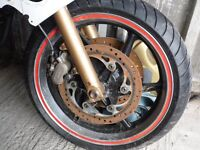 honda 750 vxr spares or repair great wheels & tyres plus other spares if requred