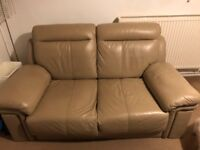 CREAM LEATHER SOFAS FOR SALE-MUST GO ASAO-FREE DELIVERY SOME AREAS