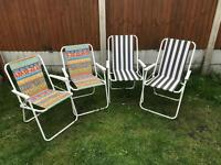 Four Deck Chairs for sale