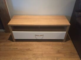 Oak/White TV Unit 1 drawer