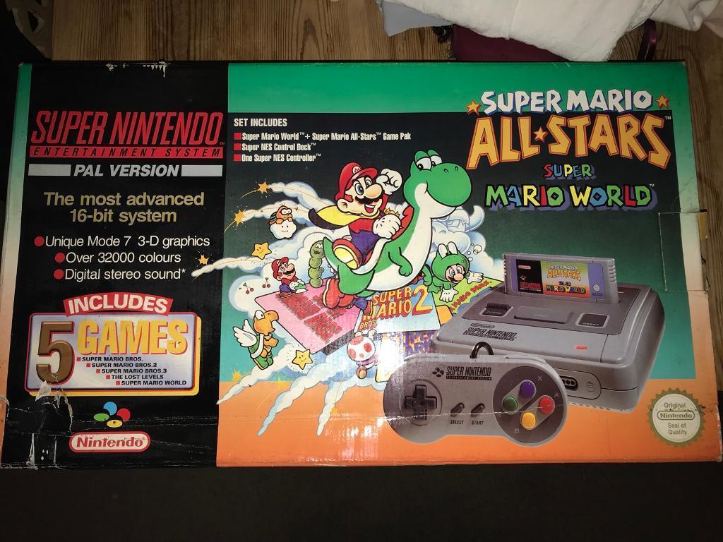 RARE Mario all stars + super Mario world snes complete