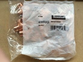 Bag of 25 x 15mm equal tees (Endfeed - Copper)