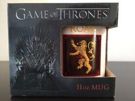 "Game of Thrones mug, ""Lannister"""