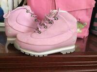 timberland boots, pink, new unworn, no box