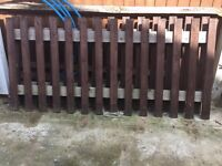 Garden Fence , Complete and assembled , used for short time ,, Treated & Painted