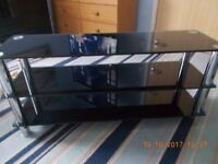 Matrix black glass tv stand and sideboard.