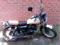 SINNIS Track Star 125cc Naked. Retro.Learner Legal. Commuter motorbike, motorcycle