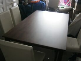 Dining Room Table and 4/5 Chairs
