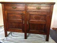 Edwardian Hardwood Cupboard / Sideboard