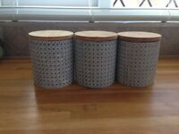 3 x Geo Design Canisters