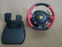 Thrustmaster Spider Ferrari 458 steering wheel and foot peddles for xbox one