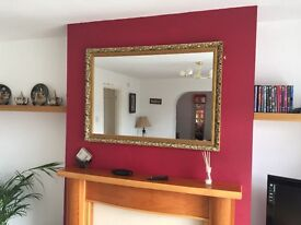 """Wall mirror in gold frame 28""""/40"""". Collection only"""