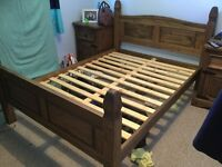 Double wooden bed for sale