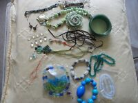 Job/Mixed Lot Costume Jewellery, Earrings/Bracelets/Necklaces & Beads ~ Wear/Upcycle/Crafts