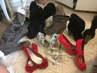 Job lot 6-7 boots are size 8 women's footwear high heels sandals occasion not free