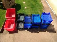 job lot of 20 mixed size storage boxes..some stackable