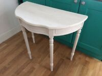 Annie Sloan white side/hall table