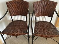 2 x Wicker Bar Stools from The Pier. See description for heights. Collect Totton