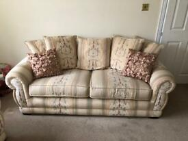 Chesterton style sofa. 3 seater and 2 chairs