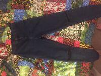 Topshop Joni jeans - dark blue stone wash women's jeans