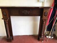 Solid Wood Mahogany Fireplace