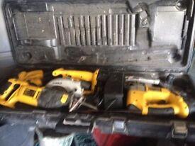 de walt 18v 4 piece tool set incl case