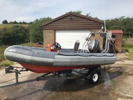 Avon Searider SR4 Rib Boat (Ex RNLI - Lifeboat)