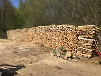 Hardwood Logs, Firewood. Local, Seasoned, Free Delivery and Stacking