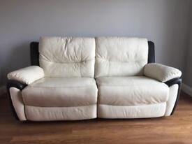 Cream recliner sofa