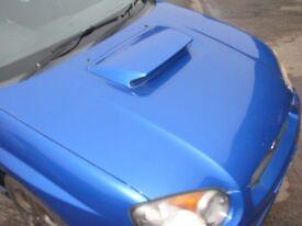Subaru Impreza WRX Blobeye Blob Alloy Vented Bonnet 02c Blue