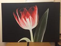 Large flower print on canvas