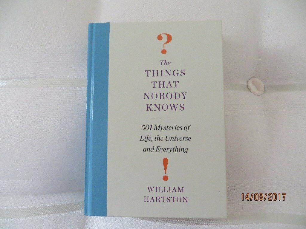 Things that nobody knows book