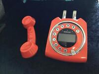 Cordless retro phone with answering machine