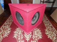 Unique Furry Red Triangle Speaker Cabinet