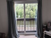 Dunelm Mill : Door Curtains, 4 x Cushions, Table runner, & Lampshade in Duck Egg Blue